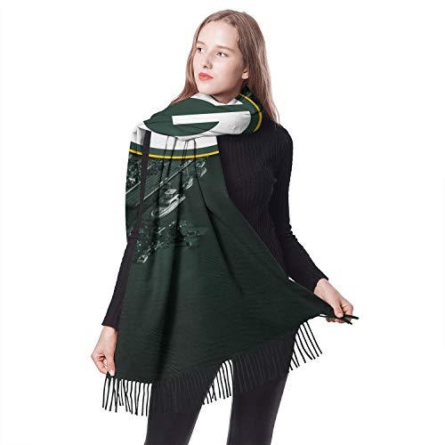 Girls ScarfsCool Long Lasting Tassel Wedding Shawl (Green Bay Packers Silk Scarf)