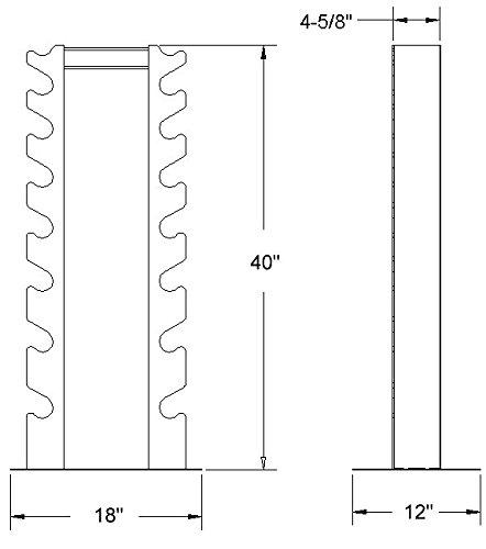 Deltech Fitness 8 Pair Vertical Dumbbell Rack