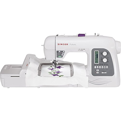 SINGER Futura XL-550 215-Stitch Sewing and Embroidery Machine with Automatic Electronic Thread...