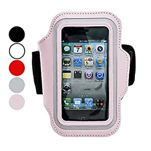 NEW Protective Case with Arm Strap for iPhone 5/5S (Assorted Colors) , Red