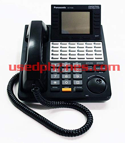 Panasonic KX-T7456B Digital Super Hybrid System Backlit LCD Display Phone(Black) (Certified Refurbished) (Digital Super Hybrid)