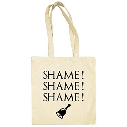 Bolsa de tela Juego de Tronos Shame Shame Shame frase Beige