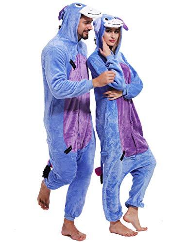 Adult Eeyore Donkey Onesies Cosplay Animal Pajamas Chrismas Homewear Sleepwear Costume