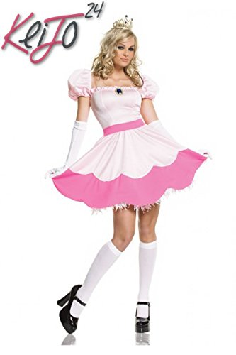 [Pink Princess Costume - Small - Dress Size 4-6] (Princess Peach Costumes Women)