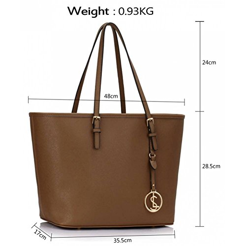 Ladies For Shoulder Taupe Bags Shopper 297 A4 Women's Size Large Tote Clearance LeahWard Handbags Sale 6w8Xq0t