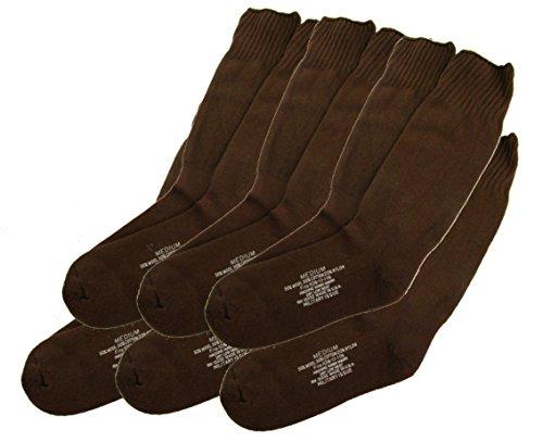 (U.S. Military Issue Socks COYOTE BROWN - MEDIUM - 6 PACK)