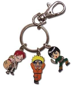 Naruto: Gaara, Naruto, and Rock Lee Metal Key Chain