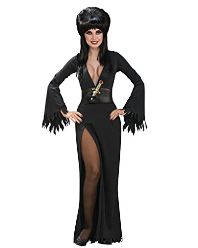 Elvira Black Gothic Dress Theatre Costumes Long Gown Vampire Theatre Costumes Sizes: XS
