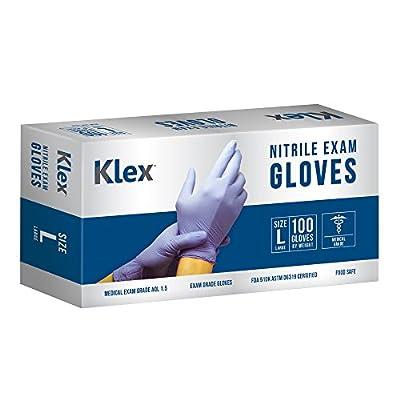 Klex Nitrile Exam Gloves Series - Medical Grade, Disposable, S M L XL 100 1000 Lavender