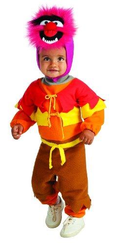 Muppets Ez-On Animal Romper, Red, Infant Costume