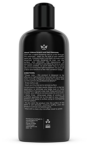 Scratch-and-Swirl-remover-best-abrasive-compound-for-car-paint-restoration-Kit-includes-buffer-pad-and-removal-polish-in-a-complete-system-Ultimate-Solution-for-clear-coat-care-12oz-TriNova