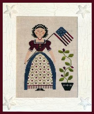 My Lady Liberty Cross Stitch Chart and Free Patriotic Embellishment