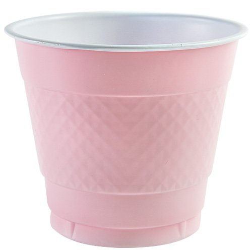 Party Dimensions 82681 18 Count Plastic Cup, 9-Ounce, Pink