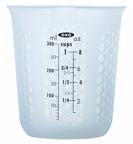 OXO Good Grips 1-Cup Squeeze & Pour Silicone Measuring Cup with Stay-Cool Pattern