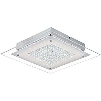 modern shower head recessed bathroom lighting wall auffel led ceiling light fixturescontemporary flush mount dimmable k9 crystalglassmetal chandelier 11inch 1320ml 4000k daylight white square audian lamp modern