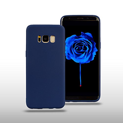 Funda Silicona para Samsung Galaxy S8 PLUS, AllDo Carcasa Protectora Suave Funda Flexible Ligero Soft TPU Gel Case Cover Carcasa Ultra Delgado Caja de Diseño Simple Funda Color Sólido Carcasa Anti Ras Azul