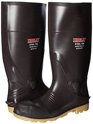 Boot Cleated 15 Tingley Toe Steel 8 Size 51244 Knee Rubber Inch Brown qfAx8p1f