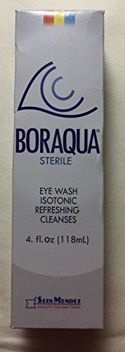 (BORAQUA STERILE Advanced Eye Relief Eye Wash ISOTONIC REFRESHING CLEANSES 4)
