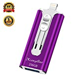 iOS Flash Drive for iPhone Photo Stick 256GB XiangGao Memory Stick USB 3.0 Flash Drive Lightning Thumb Drive for iPhone iPad Android and Computers (purple-256gb) ...