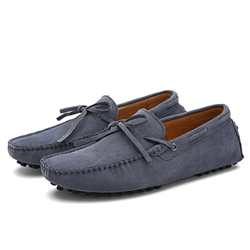 Hommes Cuir Cow Conduite Hommes Hommes Daim Casual Chaussures Gray Appartements Mocassins Lumino Chaussures 8qwdEaE