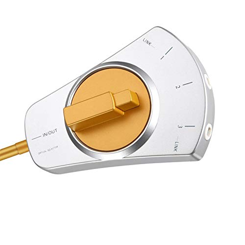 Mucjun Commutateur Audio,Commutateur Manuel Audio Liaison de Fibre Optique Num/érique 3 X 1 S/électeur avec Cable /à Fibre Optique de 3 Pieds