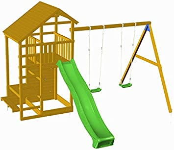 Parque Infantil MASGAMES Teide con columpio doble: Amazon.es: Juguetes y juegos