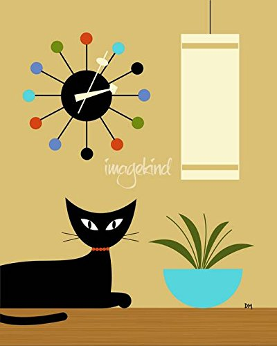 Imagekind Wall Art Print Entitled Mid Century Ball Clock by Donna Mibus