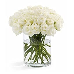 100 Fresh White Roses | 50 cm. long (20"|256|255|?|9f064598aa78db3b626abe7de6941734|UNLIKELY|0.32686546444892883