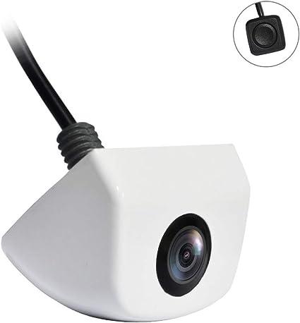 PARKVISION Cam/éra de recul Blanc s/érie Pro /à Montage par Cam/éra de recul CMOS /à 6 Broches avec Fonction de r/églage dimage d/écentr/ée