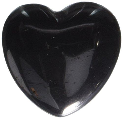 30mm Hematite Puff Heart Worry Healing Stone ()