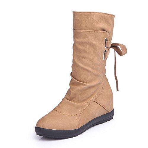 KHSKX-Zapatos De Gran Tamaño Aumentado En Botas Un Vendaje Despues De Martin Botas Amarillo Treinta Y Ocho Thirty-six