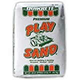 PlaySand Quikrete Sandbox Play Sand – Outdoor Kids Filtered for Sand Box – Screened, Washed and Dried Tan Color - 50 Pounds
