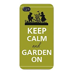 Apple Iphone Custom Case 5c White Plastic Snap on - Keep Calm and Garden On Couple