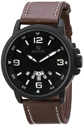 Relógio Masculino Skone Analógico 9345AG - Marrom