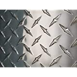 "3003 Aluminum Diamond Tread Plate//Sheet  .045/"" X 12/"" X 24/"" Checker Plate /& Durba"