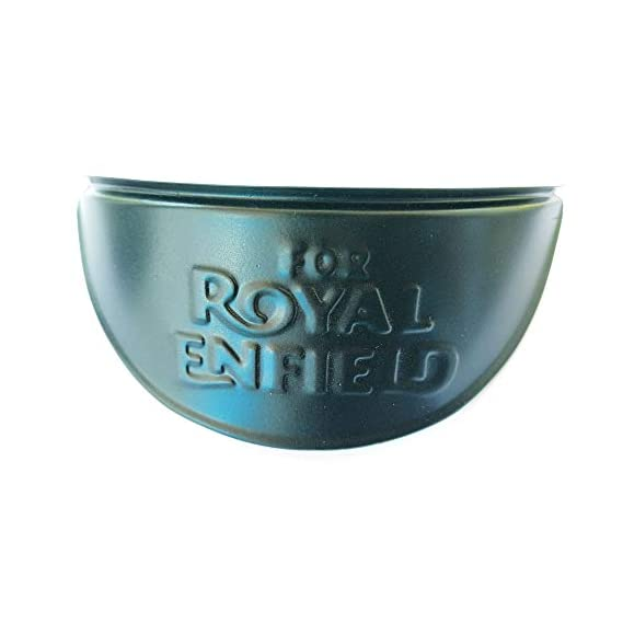 Zodix Head Lamp Cap with Logo for Royal Enfield (Black)