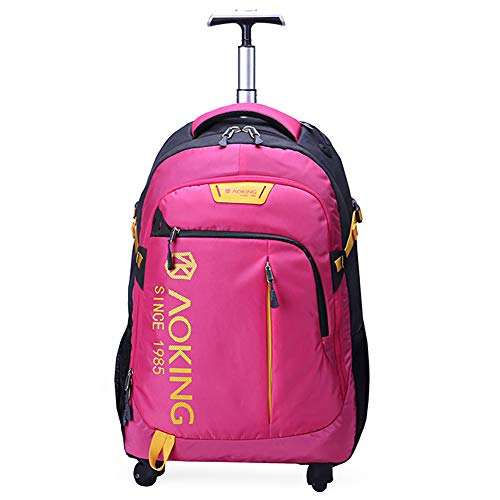 LRLANI Waterproof Travel Trolley Bag, Laptop Luggage Wheel Bag, Ultra Quiet, Anti-wear, Anti-Shock-red