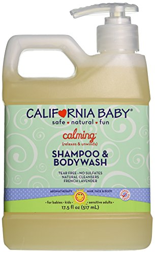California Baby Calming Shampoo and Body Wash, French Lavender, 17.5 Ounce (Calming Lavender Shower)