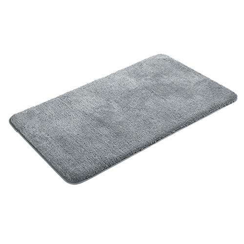 MAYSHINE Bath mats for Bathroom rugs(24X39 inch),5 Sizes,Extra Soft, Absorbent, Densely woven Shaggy D8 Microfiber,Machine-Washable, Perfect for Doormats,Tub, Shower- Gray by MAYSHINE