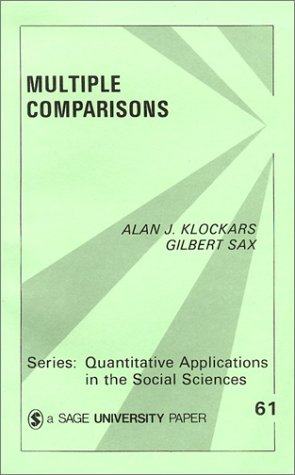 Multiple Comparisons (Quantitative Applications In The Social Sciences)