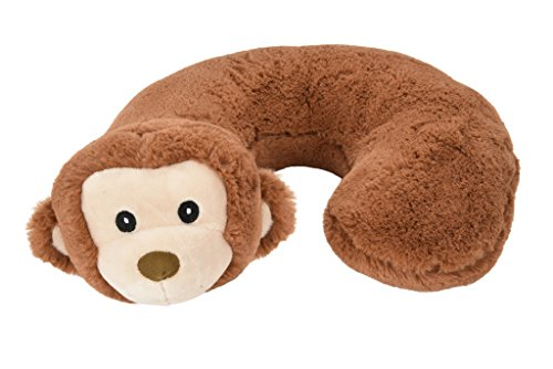 Alphabetz Monkey Baby Pillow Head and Neck Support Travel Pillow, Brown