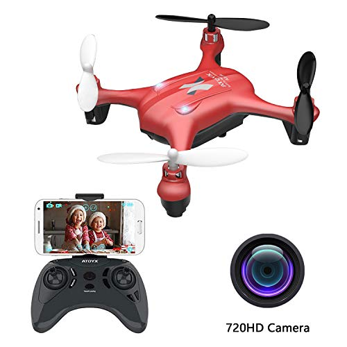 2019 Latest Mini Drones with Camera for Adults/Beginners 720P HD WiFi Real-time Video Feed,2.4GHz 4CH 6-Axis Gyro Quadcopter,Small Drone Easy Fly Fun Gift for Boys Girls(AT-96)