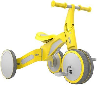 Zuqiudashi Bebé Montando Juguetes niños Equilibrio niños Coche equitación Juguete Triciclo Paseo y Modo Deslizante Xiaomi al Aire Libre Rompecabezas Juguetes,Yellow