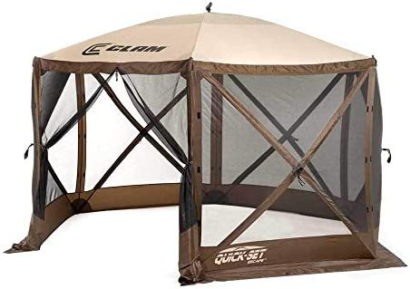QUICK-SET Clam Escape Portable Outdoor Gazebo Canopy Screen 3 Wind Panels