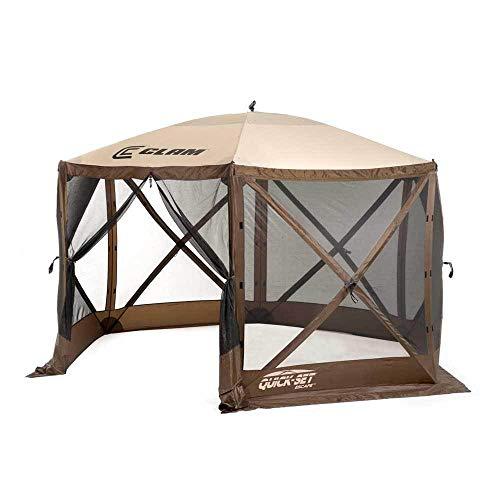 Quick Set 9879 Escape Shelter, 140 x 140-Inch Portable Popup Gazebo Durable Tent Bug and Rain Pr ...