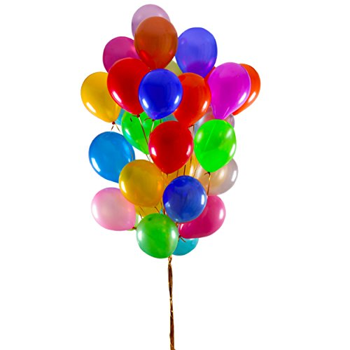 LATEX BALLOONS - Assorted Color Party Balloons, PACK OF 100 PIECES