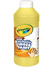 Crayola; Washable Fingerpaint; Art Tools; 32-Ounce Plastic Squeeze Bottle; Bright, Bold Colors; Yellow