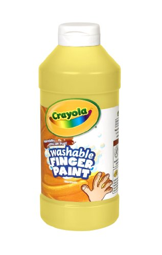 (Crayola; Washable Fingerpaint; Art Tools; 32-Ounce Plastic Squeeze Bottle; Bright, Bold Colors; Yellow)