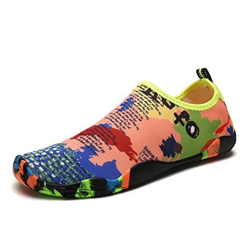 on De Water Barefoot Yoga Slip Et Swim Adultes Surf Skin Chaussures Aqua Multicolore Pilates Plage Chaussettes Dogeek Pour Shoes Enfants Sport pXAdq7qn1
