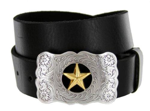 Changeable Buckle (Texas Ranger Star Western Full Grain Leather Casual Jean)